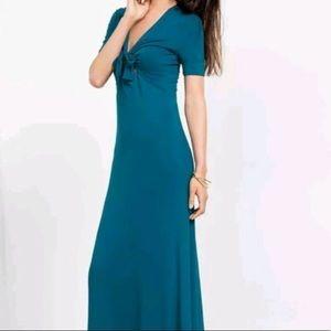 Blue Tie-Front Maxi Dress - NWT